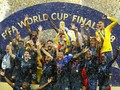 FOTO: Timnas Prancis Berpesta di Stadion Luzhniki