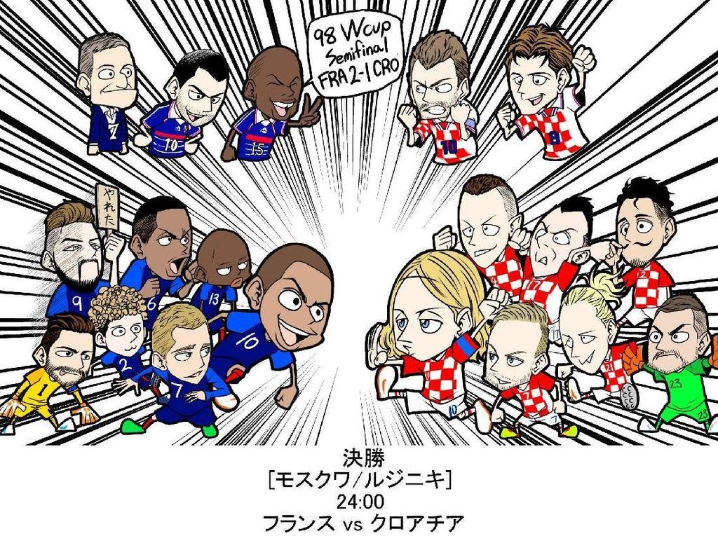 Unik! Perjalanan Piala Dunia 2018 versi Manga