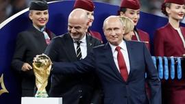 Putin Bangga Rusia Sukses Gelar Piala Dunia