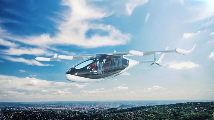 Rancangan taksi terbang tersebut dapat mengangkut 4 hingga 5 orang dengan kecepatan hingga 250 mil per jam untuk sekitar 500 mil.