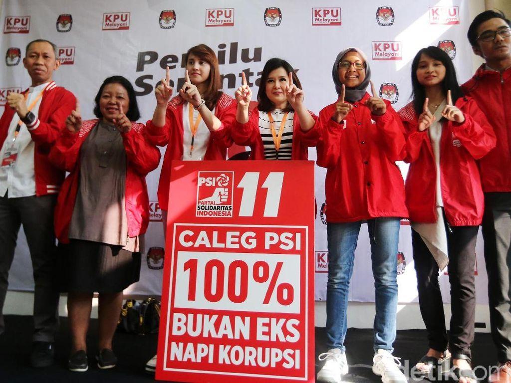 PSI Daftarkan Caleg 100 Persen Bukan Eks Napi Korupsi