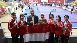 Indonesia Raup 5 Medali Kejuaraan Karate Asia di Yordania