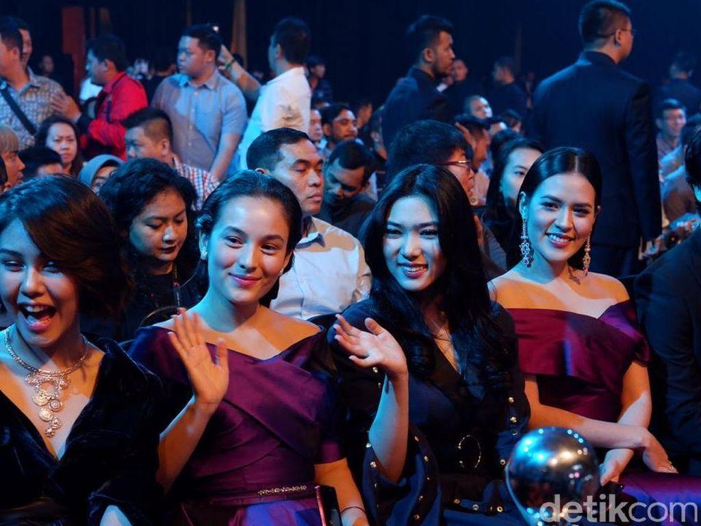 Di antaranya ada Vanesha Prescilla, Chelsea Islan, Isyana Sarasvati, Raisa dan Morgan. (Foto: detikINET/Adi Fida Rahman)
