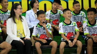 Tiga 'Remaja Gua' Resmi Jadi Warga Negara Thailand