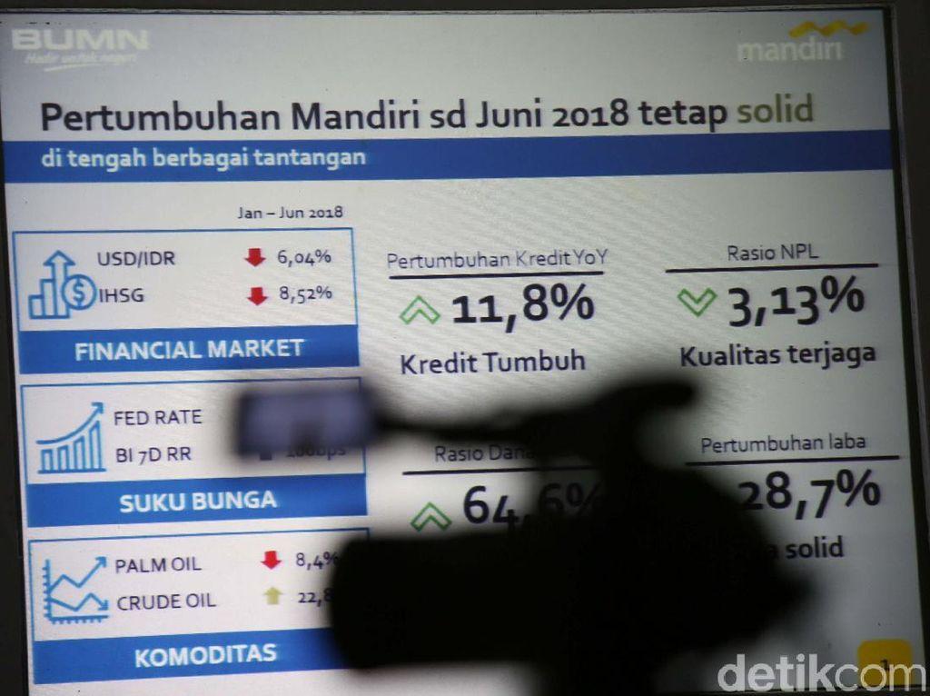 Pada akhir Juni 2018, realisasi penyaluran pembiayaan Bank Mandiri telah mencapai Rp 762,5 triliun atau tumbuh 11,8% (yoy), hampir mendekati rata-rata selama 5 tahun terakhir sebesar 11,9%.