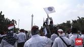 Para pekerja ini pun menolak akuisisi pertagas oleh PGN yang mereka anggap berkedok korporasi.(CNN Indonesia/ Hesti Rika)