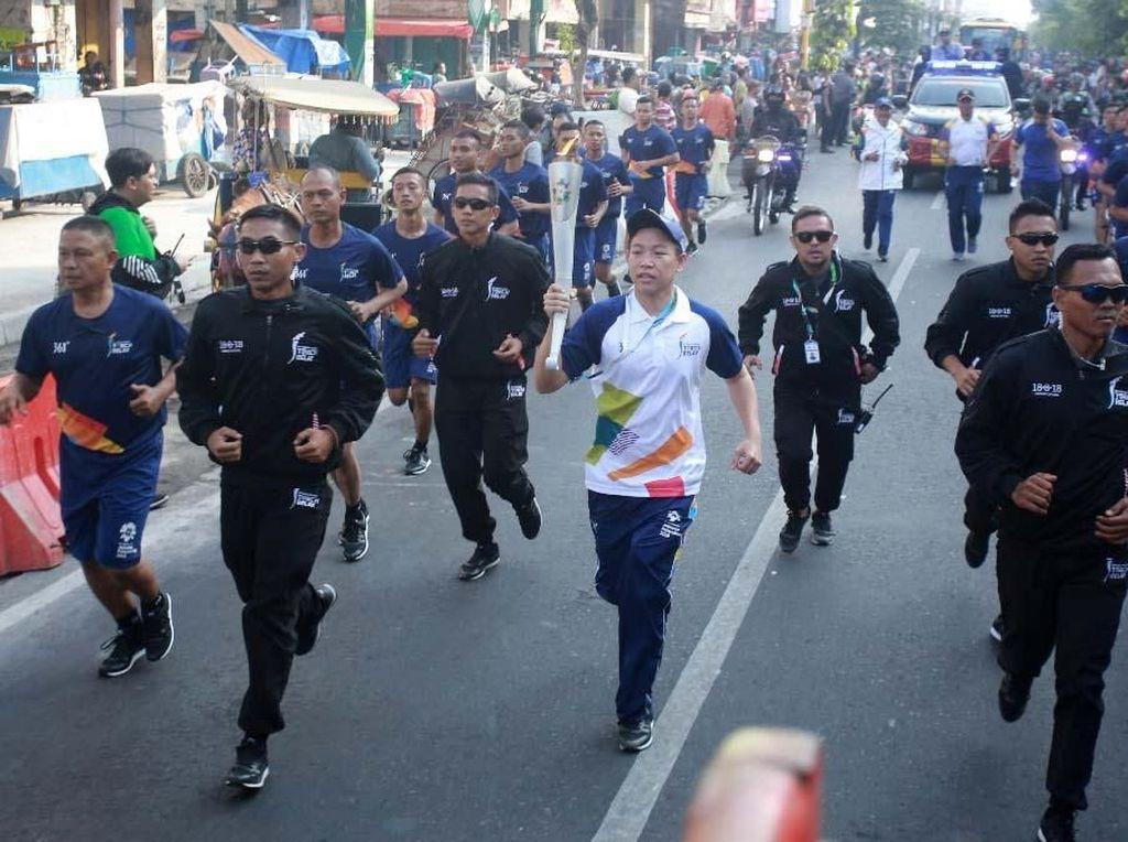 Pawai Obor Asian Games 2018 di Yogyakarta