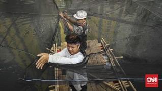 Jaring Kali Item Tetap Dipasang Meski Asian Games Selesai