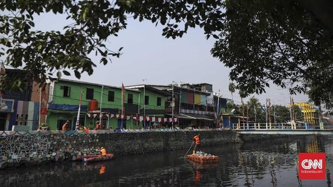 Gelaran Asian Games 2018 tak terasa tinggal sebulan lagi, DKI Jakarta sebagai salah satu penyelenggara masih sibuk bersolek. (CNN Indonesia/ Hesti Rika)