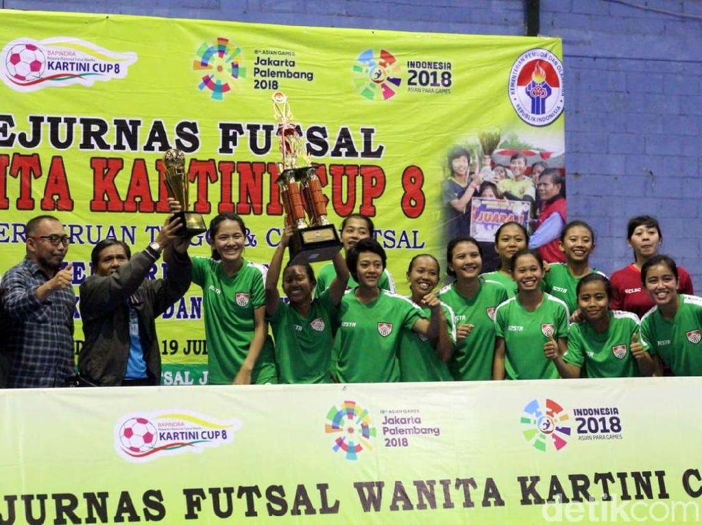 Isola UPI Juara Kejurnas Futsal Kartini Cup 2018