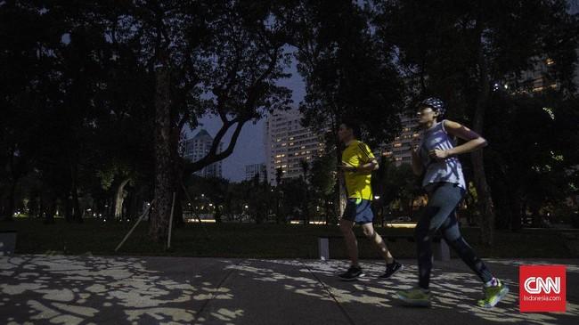 Warga pun bebas melakukan aktivitas fisik dizona olahraga. (CNN Indonesia/Adhi Wicaksono)