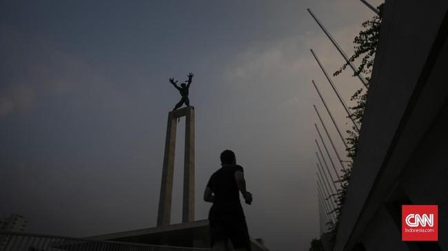 Satu zona konservasi berpusat di Tugu Pembebasan Irian Barat. (CNN Indonesia/Adhi Wicaksono)