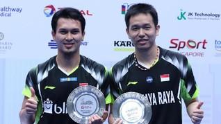 Juara Singapura Open, Ahsan/Hendra Mengaku Sempat Terpancing