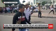 Kubu Pro dan Kontra Jokowi Gelar Aksi Bersamaan