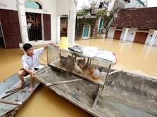 Penampakan Banjir Besar Vietnam, 16 Orang Meninggal