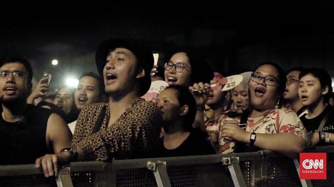 Pesta musik, seni, fesyen dan makanan itu menyatukan musisi-musisi lokal dan internasional. (CNN Indonesia/Tri Wahyuni)