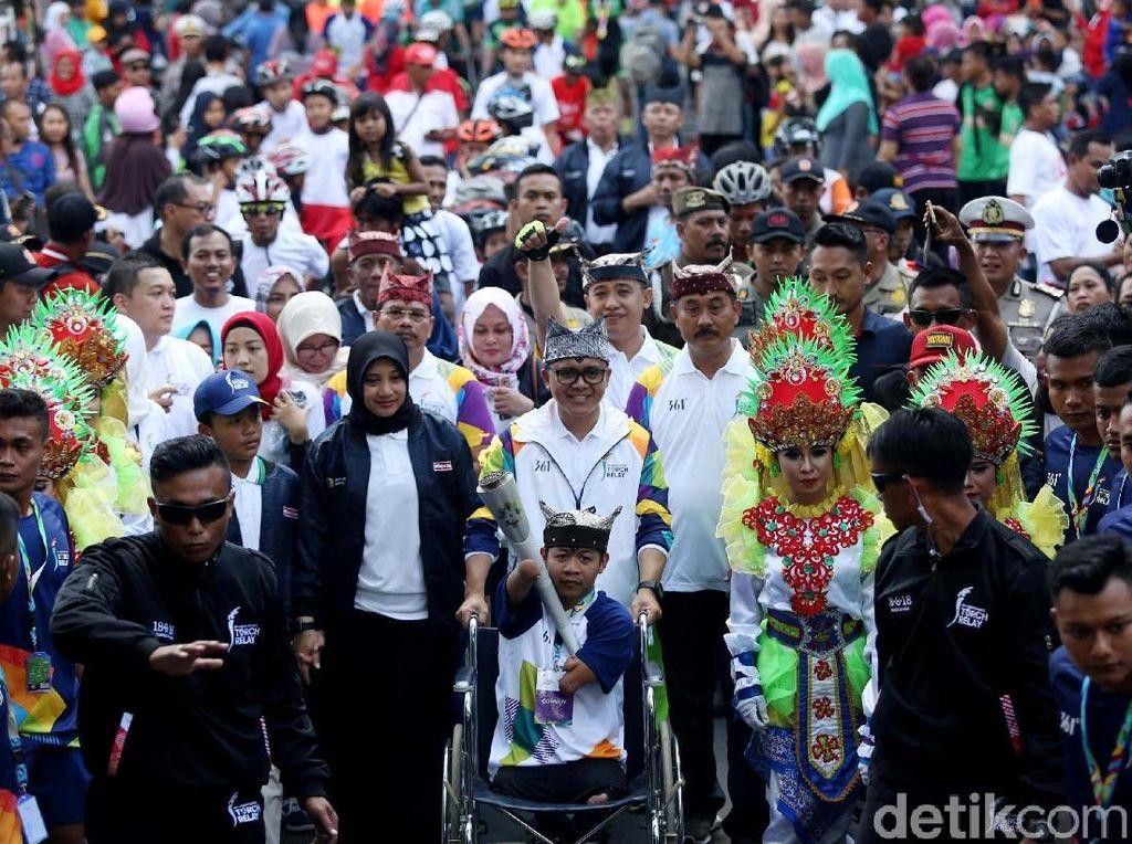 Obor Asian Games Tiba di Banyuwangi