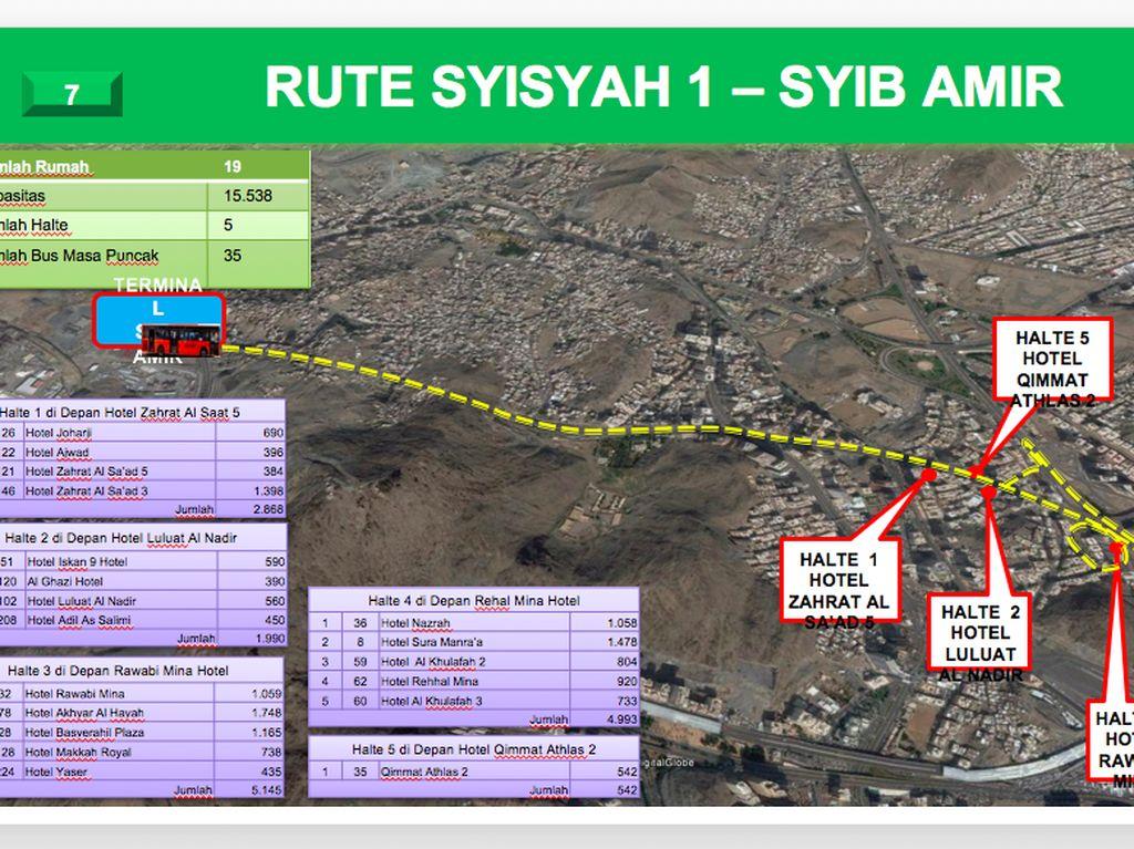 Ini rute Syisyah 1-Syib Amir