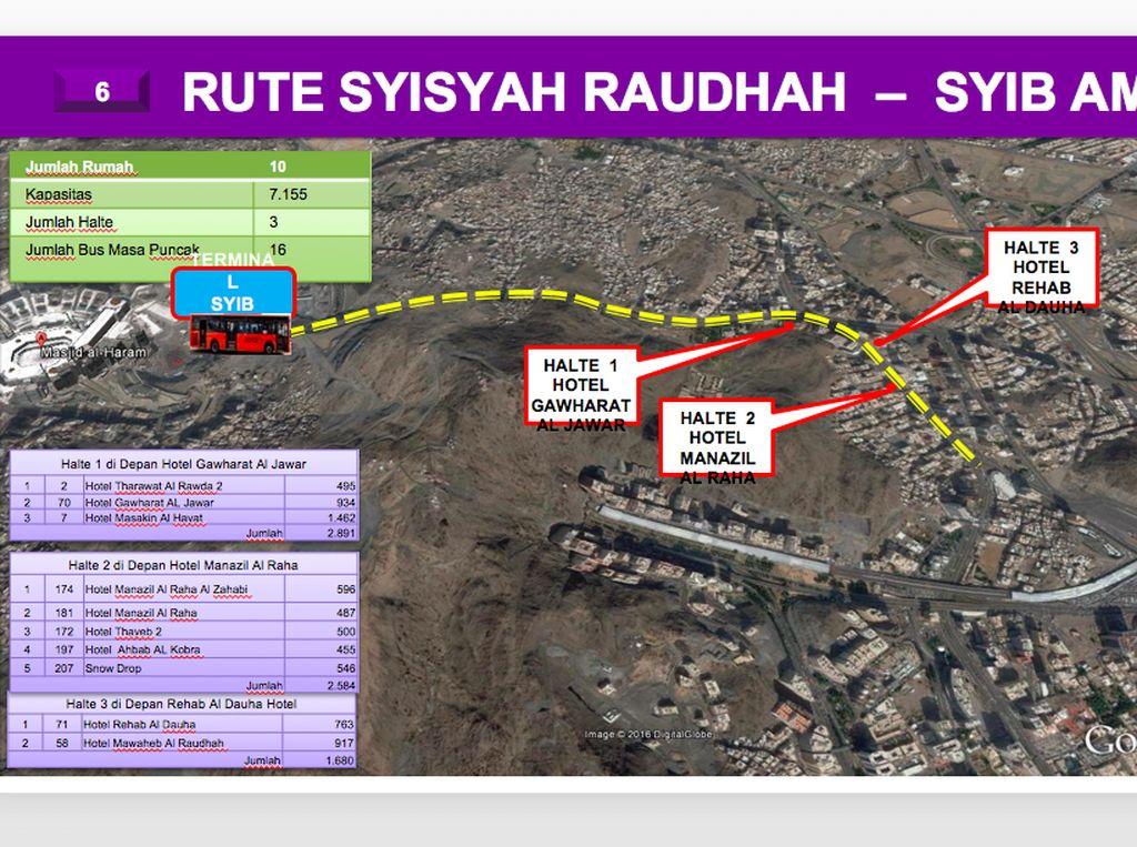 Ini rute Syisyah Raudhah-Syib Amir