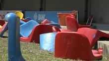 VIDEO: Kursi di Stadion Sriwijaya Rusak Jelang Asian Games