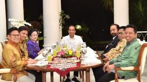 Rendang Koalisi Jokowi dan Enam Ketum Parpol di Istana Bogor