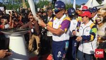 Obor Api Asian Games Disambut Ribuan Orang di Bali