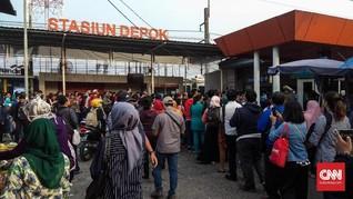 Cegah Corona di KRL, PT KCI Imbau Penumpang di Stasiun Depok