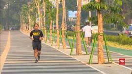 VIDEO: Trotoar Cantik GBK Senayan Siap Sambut Asian Games