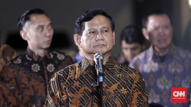 Prabowo: Indonesia Sedang Sakit