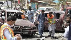 FOTO: Duka Pemilu Pakistan, Bom Bunuh Diri Meledak di TPS