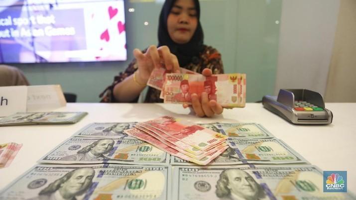 Pukul 14:00 WIB: Rupiah Melemah ke Rp 14.305/US$