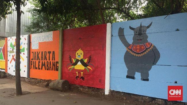 Alasan Lurah Paseban Kerahkan PPSU Bikin Mural Asian Games