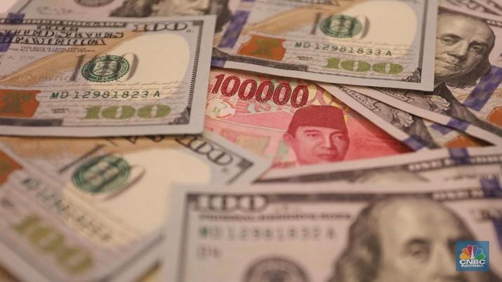 Meski pelemahan rupiah menipis jelang penutupan pasar, tetapi rupiah masih menjadi mata uang terlemah di Asia.