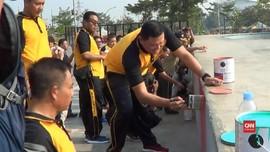 VIDEO: TNI-Polri Bersihkan dan Cat Kalijodo
