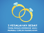 Simak, 3 Kesalahan Membeli Cincin Pernikahan