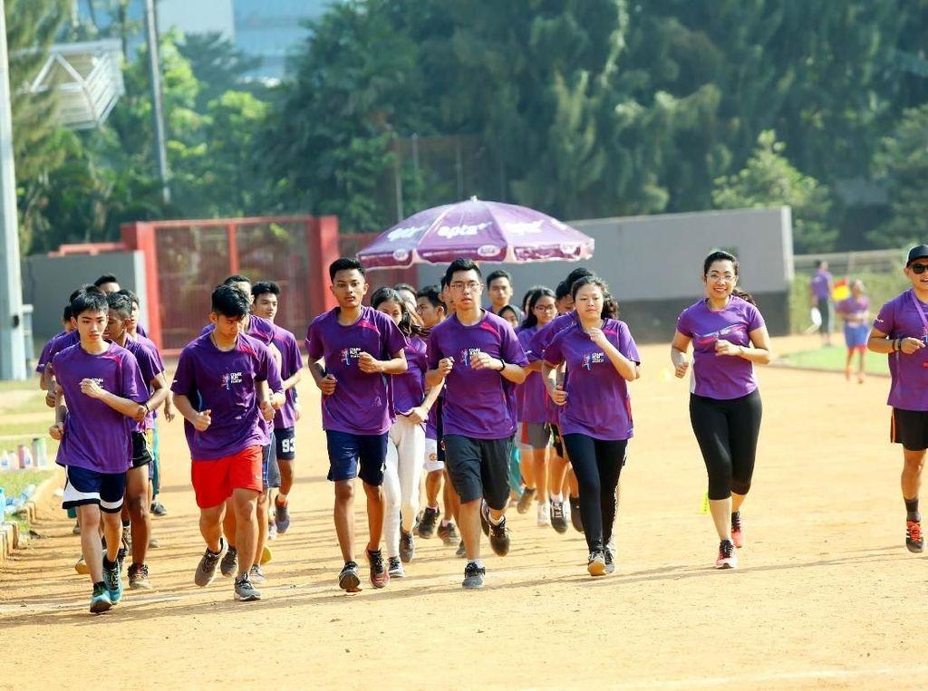 Combi Run Academy terdiri dari tiga tahapan yakni Healthy Living Education, Parameter Tes dan School Competition. Istimewa.