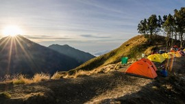 Tidak Ada Pemisahan Tenda Pendaki di Gunung Rinjani