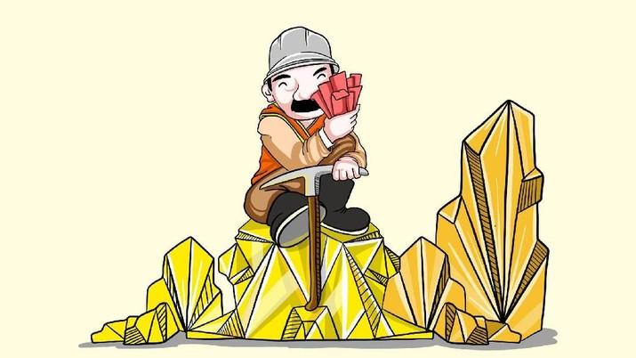 Cadangan emas tembaga Freeport diperkirakan berumur 32 tahun, artinya bisa habis di 2051 mendatang.