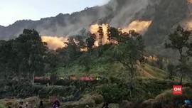VIDEO: Detik-detik Gempa Guncang Gunung Rinjani