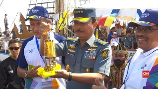 VIDEO: Kapal Dewaruci Angkut Api Asian Games 2018