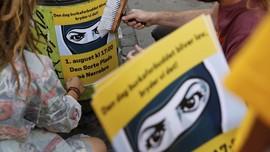 Protes Larangan Niqab, Warga Denmark Turun ke Jalan