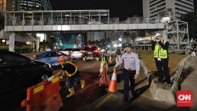Minggu, Polisi Lakukan Rekayasa Lalu Lintas di Sekitar Monas