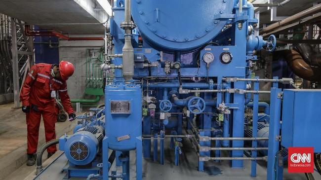 PLTGU JAWA 2 dioperasikan melalui sistem transmisi Jawa-Bali dengan kapasitas daya sebesar 300 MW sejak tanggal 18 Juli 2018. (CNNIndonesia/Adhi Wicaksono).