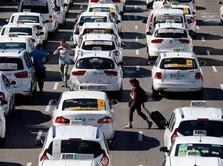 Demo Uber CS, Driver Taksi Lumpuhkan Jalanan Spanyol