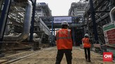 PT PLN (Persero) mengoperasikan secara komersial Gas Turbine (GT) #4-2 PLTGU Jawa 2 dengan kapasitas 300 Megawatt (MW). (CNNIndonesia/Adhi Wicaksono).