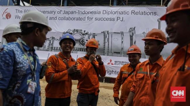 PLTGU Jawa 2 dioperasikan menyusul GT #4-1 (300 MW) yang sudah berjalansebelumnya pada tanggal 4 Juni 2018. CNNIndonesia/Adhi Wicaksono.