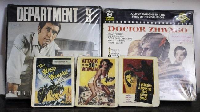 Film-film yang diputar dan posternya dipajang beragam, laga, horor, komedi, musikal, film-film Arab, sampai koleksi Barat. Museum itu dibuka akhir pekan dan hari libur. (AFP PHOTO / SHWAN NAWZAD)
