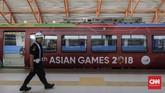 Seluruh atlet dan official peserta Asian Games 2018 dapat menggunakan LRT tanpa dipungut biaya.