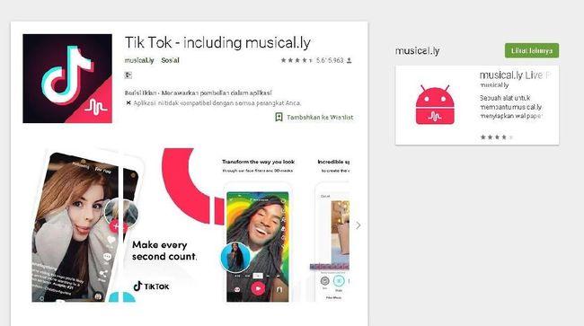 Gabung Dengan Tik Tok, Musical ly Hilang dari Toko Aplikasi