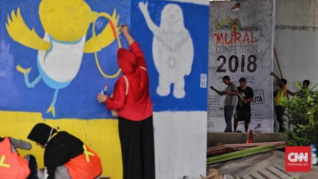 Para peserta harus menyelesaikan karyanya dalam waktu empat hari, yang dimulai hari ini hingga Selasa (7/8) pekan depan tepat pukul 12.00 WIB.(CNN Indonesia/Adhi Wicaksono)
